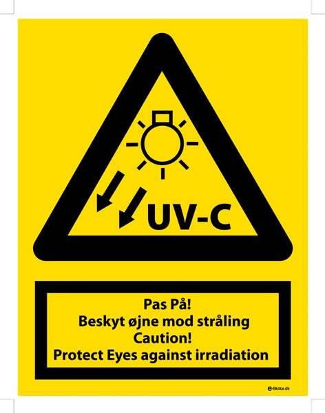 Advarselsskilt - UV-c stråling