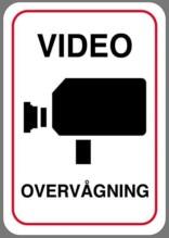 Videoovervågningsskilt
