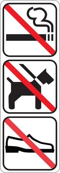 Forbuds piktogrammer Ryge hund sko