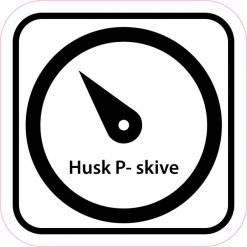 Piktogram Husk P skive. skilt