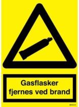 Gasflasker fjernes ved brand skilt