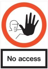 Advarselsskilt - No access