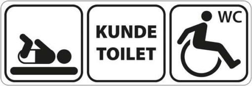 Pusleplads kundetoilet handicap WC pic. Skilt