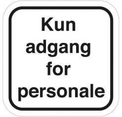 Kun for personale skilte