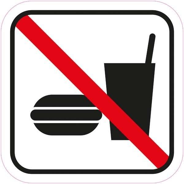 Madvarer forbudt - Piktogram skilt