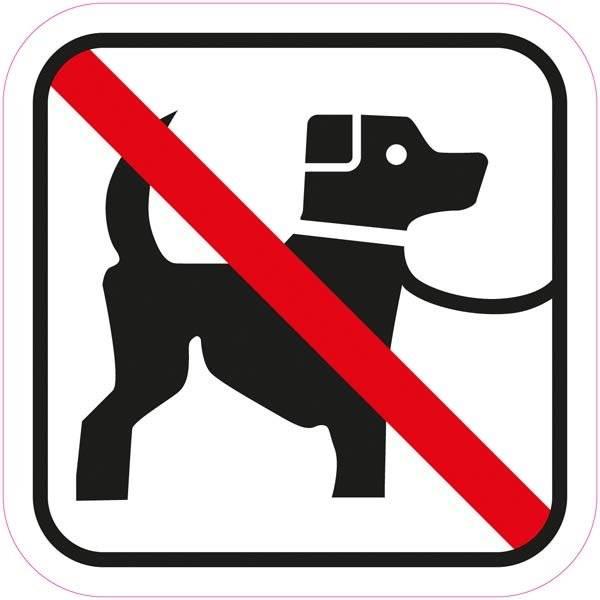 Hunde forbuds piktogram skilt
