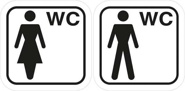 Damer Herre toilet piktogramer.