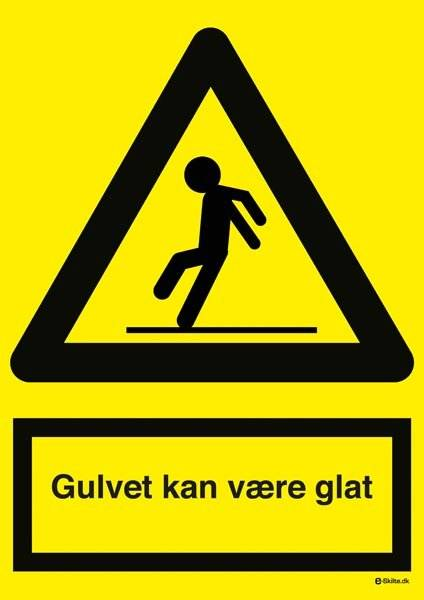 Advarselsskilt - Gulvet kan være glat