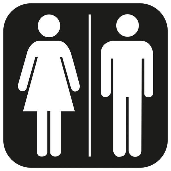 Toilet Damer herre piktogram skilt