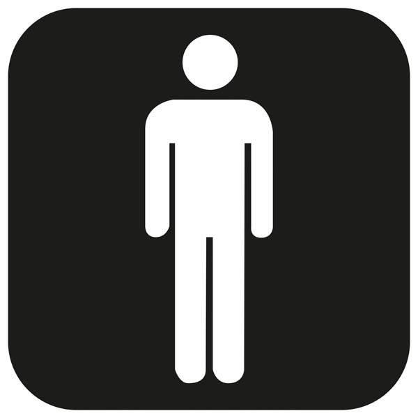 Toilet Herre piktogram skilt