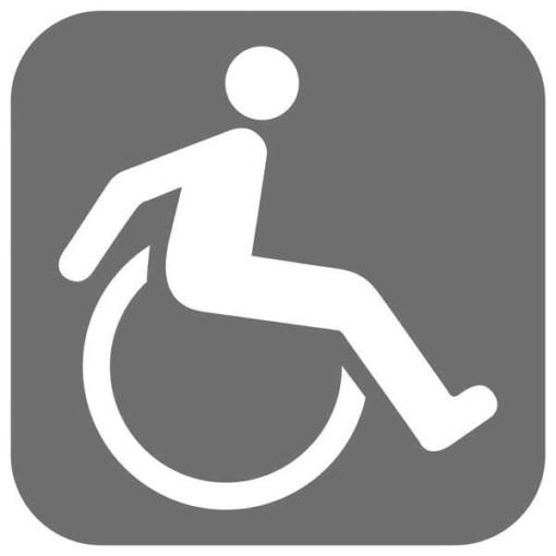 Handicap toilet grå piktogram skilt