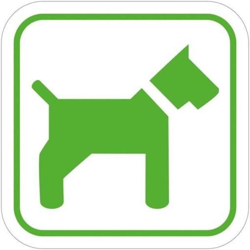 Hund grøn. Piktogram skilt