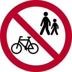 Færdsel forbudt skilte