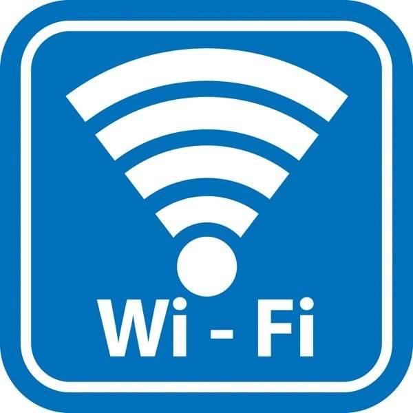 Wi-Fi Blå piktogram. Piktogram skilt