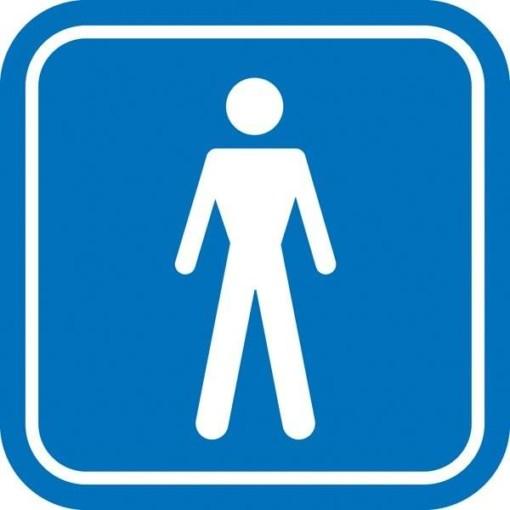 Herre toilet piktogram. skilt