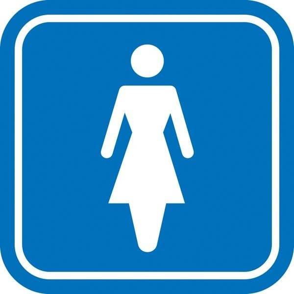 Damer toilet piktogram skilt
