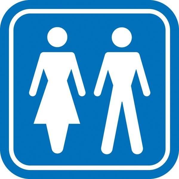 Damer Herre toilet piktogram skilt
