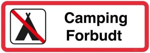 Camping forbudt