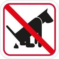 Hundelorte forbuds piktogram skilt
