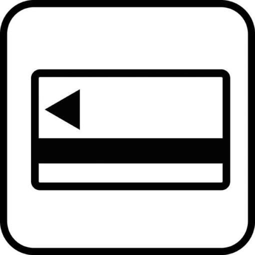 Kort automat - piktogram skilt