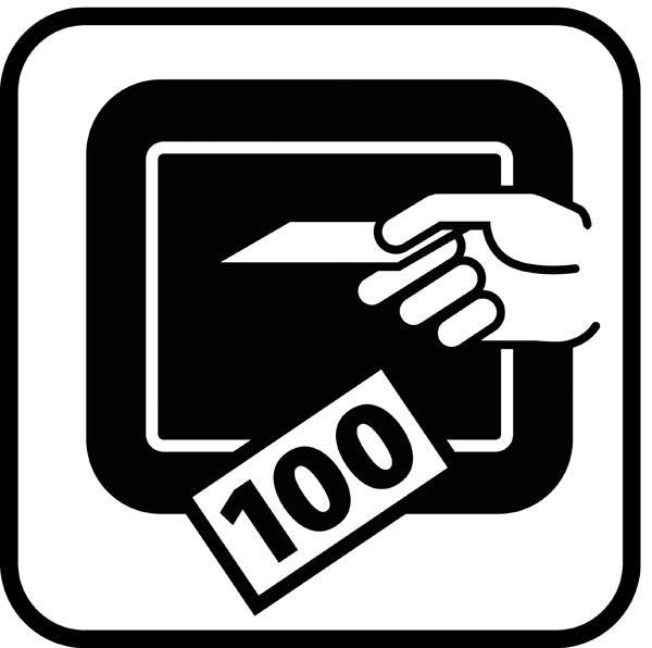 Kontant automat - piktogram skilt