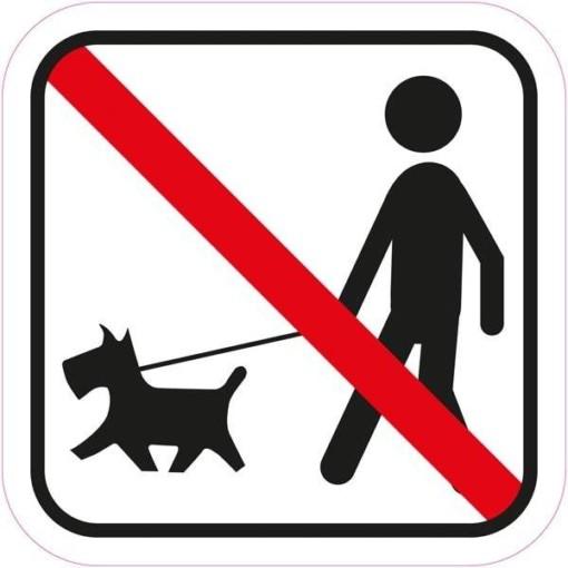 Hunde adgang forbudt piktogram skilt