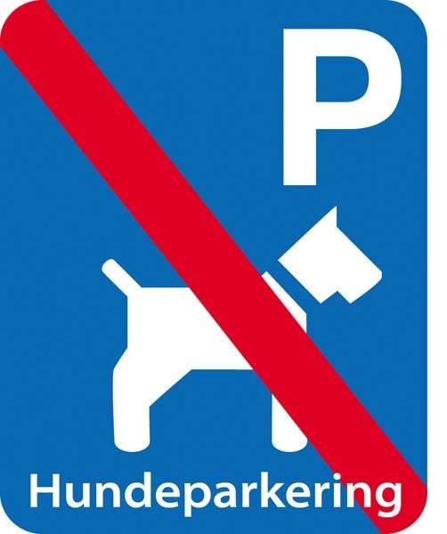 Parkerings skilt: P hundeparkering forbudt