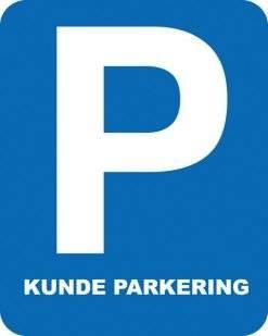 Parkerings skilt P Kunde parkering. Parkeringsskilte.
