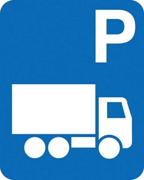 Parkerings skilt P Lastbil. Parkeringsskilt