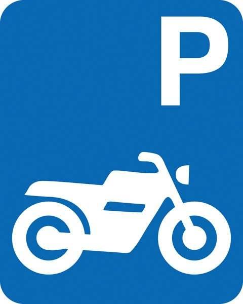 Parkerings skilt  P motorcykel skilt