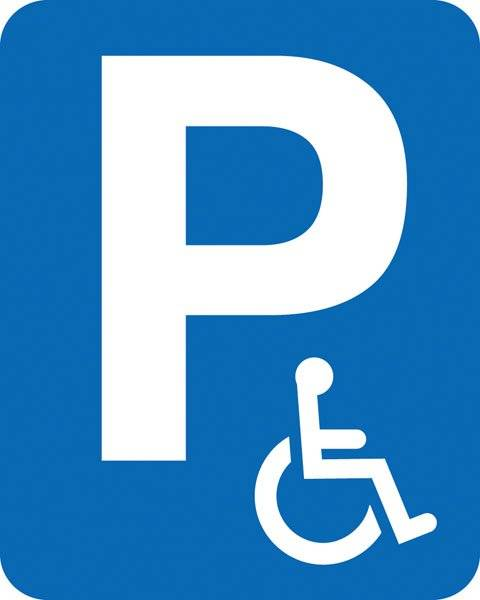 Parkerings skilt P Handicap skilt