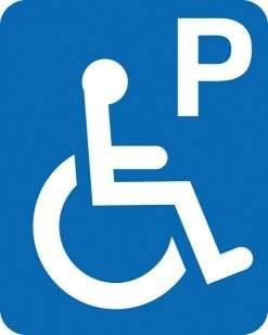 Parkerings skilt P Handicap.