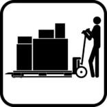 Løftevogn/palleløfter piktogram skilt