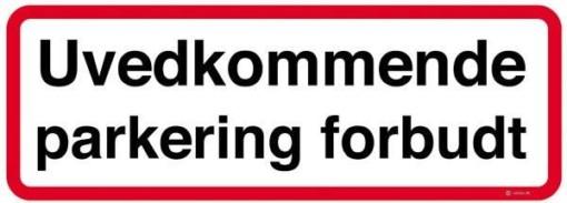 Uvedkommende parkering forbudt