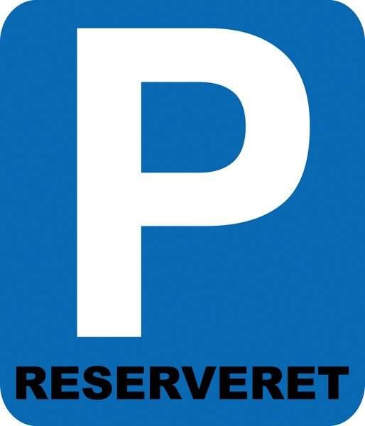 Parkerings skilt  P reserveret skilt