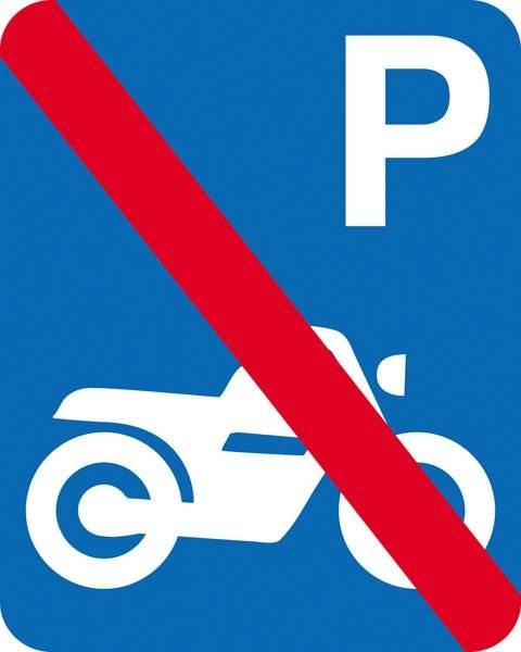 Parkerings skilt  P motorcykel forbud skilt