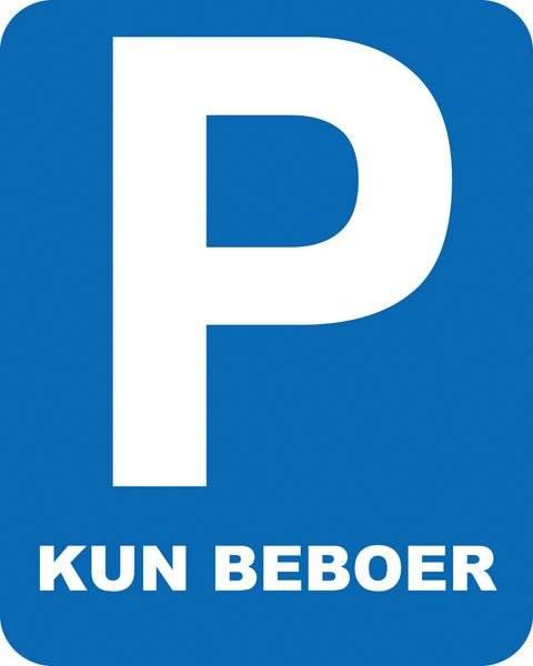 Parkerings skilt  P reserveret kun beboer skilt