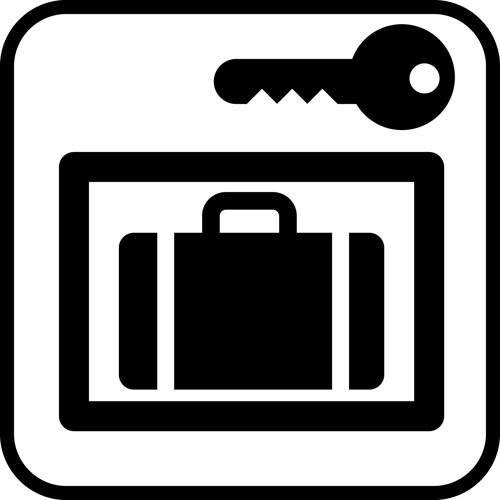 Bagageboks lås - piktogram skilt