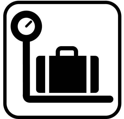 Bagagevægt - piktogram skilt
