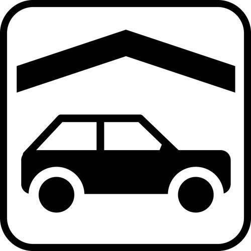 Bil overdækning - piktogram skilt