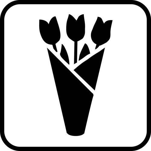 Blomster - Piktogram skilt