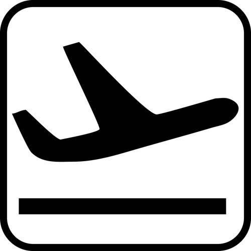 Fly letter - piktogram skilt