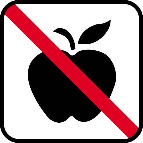 Frugt forbud - piktogram skilt