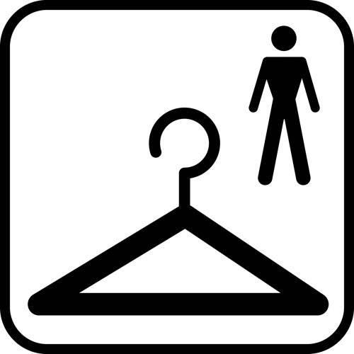 Garderobe Herre - piktogram skilt