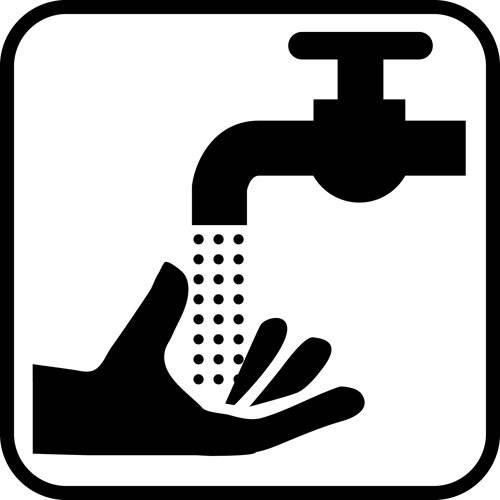 Håndskyl - piktogram skilt