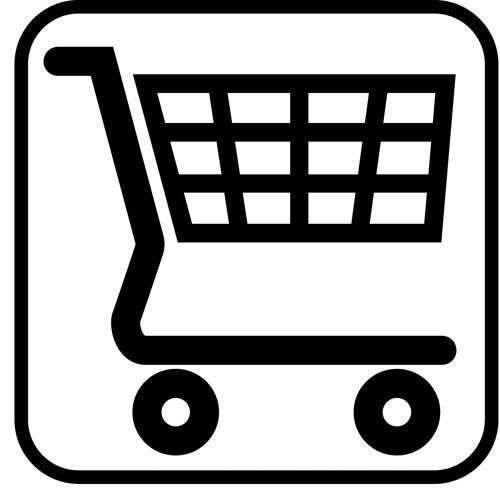Indkøbsvogn - piktogram skilt