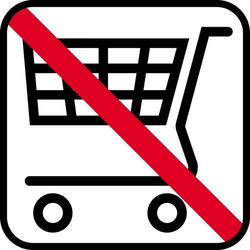 Indkøbsvogn forbud - piktogram skilt