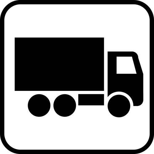 Lastbil - piktogram skilt
