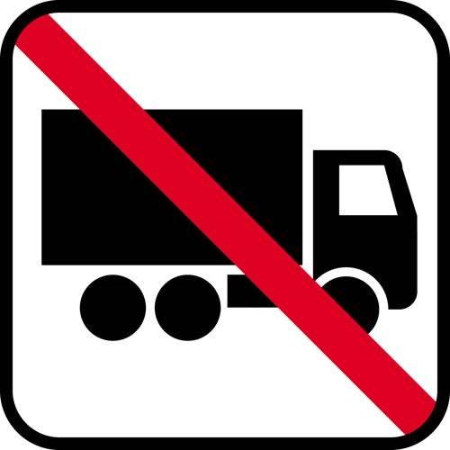 Lastbil forbud - piktogram skilt