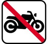 Motorcykler forbudt skilte